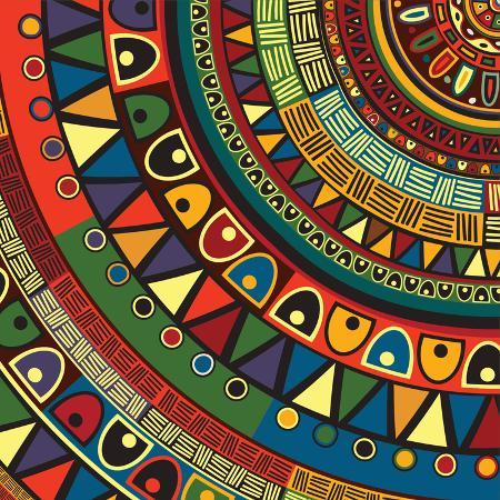 richard-laschon-colored-tribal-design-abstract-art