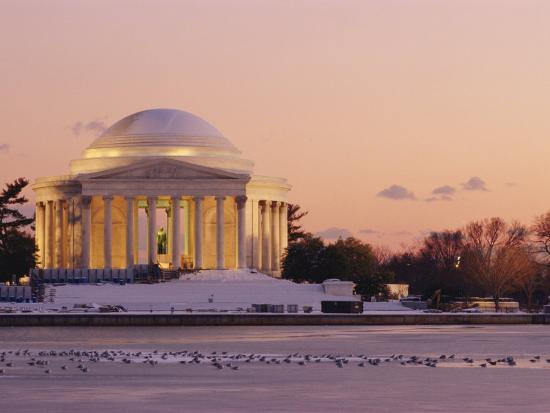 richard-nowitz-a-winter-view-of-the-jefferson-memorial-and-the-tidal-basin-at-twilight
