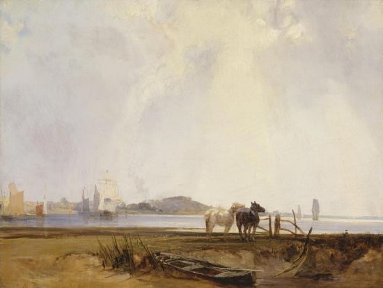 richard-parkes-bonington-landscape-near-quillebeuf-france-c-1824-25