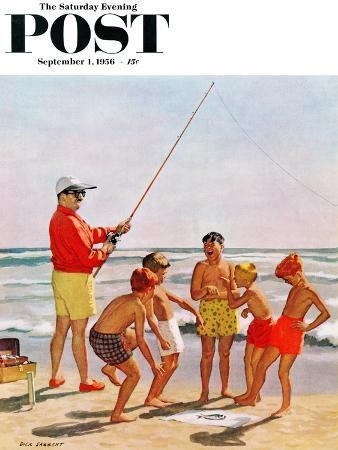 richard-sargent-big-pole-little-fish-saturday-evening-post-cover-september-1-1956
