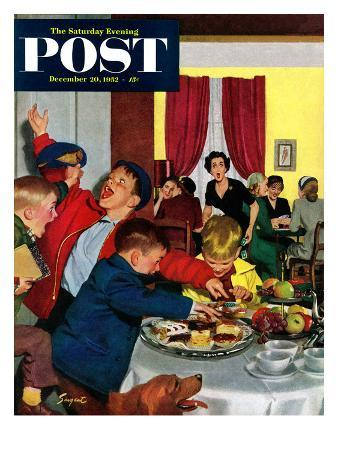 richard-sargent-crashing-mom-s-card-party-saturday-evening-post-cover-december-20-1952