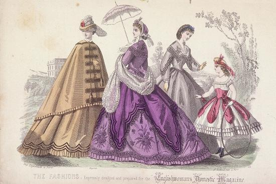 rigolet-rigolet-three-women-and-a-child-wearing-the-latest-fashions-1864