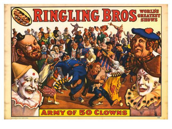 ringling-bros-army-of-50-clowns-1960