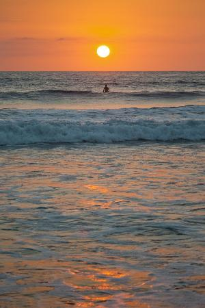 rob-francis-sunset-at-playa-guiones-surfing-beach