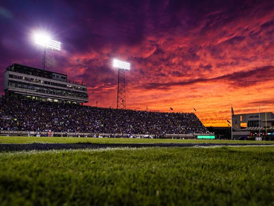 Ecu sunset at dowdy ficklen stadium photographic print by for Beaver stadium wall mural