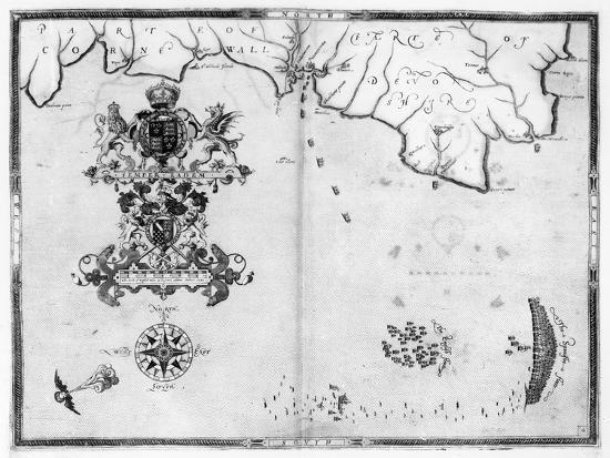 robert-adams-map-no-4-showing-the-route-of-the-armada-fleet-engraved-by-augustine-ryther-1588