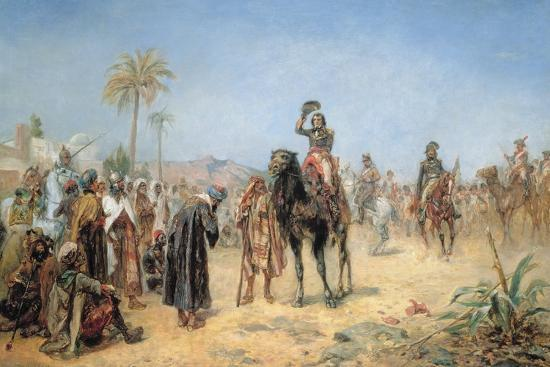 robert-alexander-hillingford-napoleon-arriving-at-an-egyptian-oasis