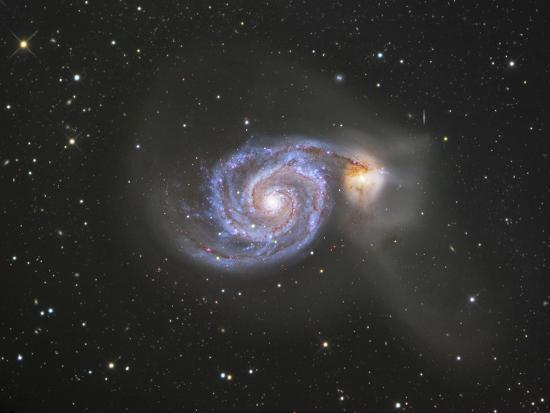 robert-gendler-m51-ngc-5194-and-5195-colliding-galaxies-in-canes-venatici