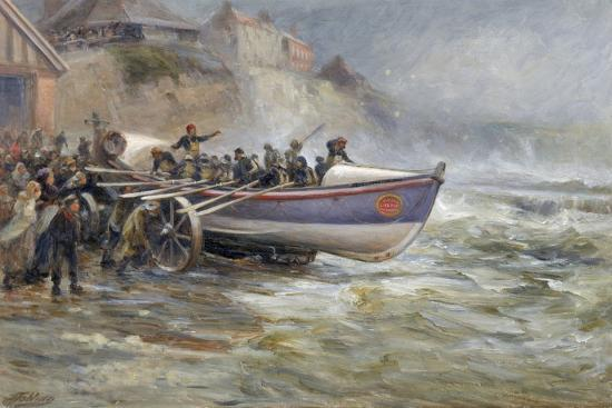 robert-jobling-launching-the-cullerboats-lifeboat-1902