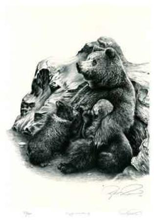 robert-pow-grizzly-bear-family