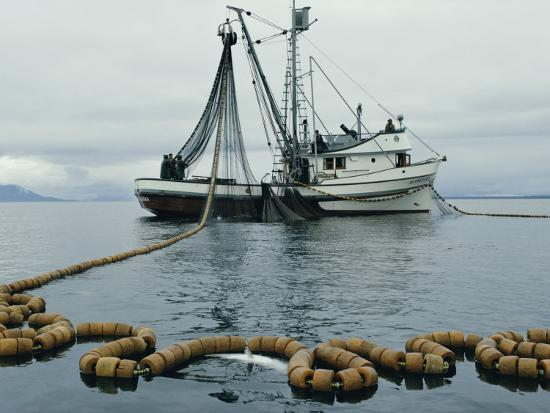 robert-sisson-a-fishing-boat-with-a-large-net-in-the-water