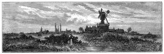 robert-taylor-pritchett-windmill-on-wimbledon-common-1880