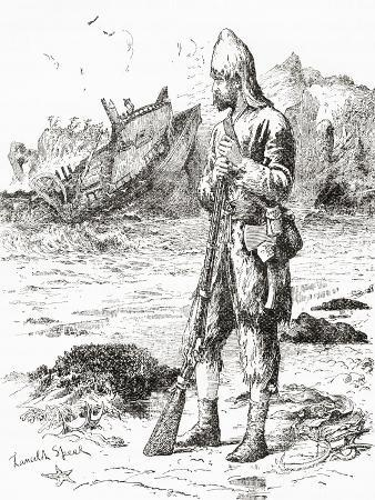 robinson-crusoe-on-the-desert-island-after-being-shipwrecked-from-adventures-of-robinson-crusoe