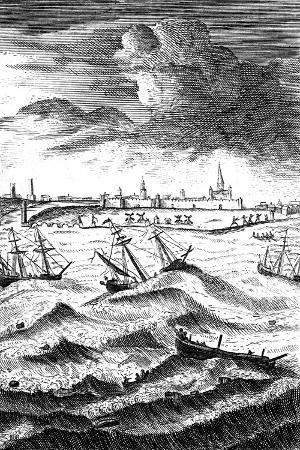 robinson-crusoe-shipwrecked-at-yarmouth-c1719