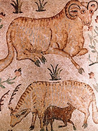 roman-mosaic-of-a-ram-a-cow-and-calf-4th-century-ad