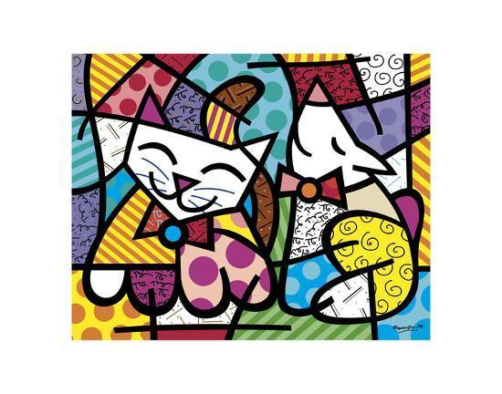 romero-britto-happy-cat-and-snob-dog