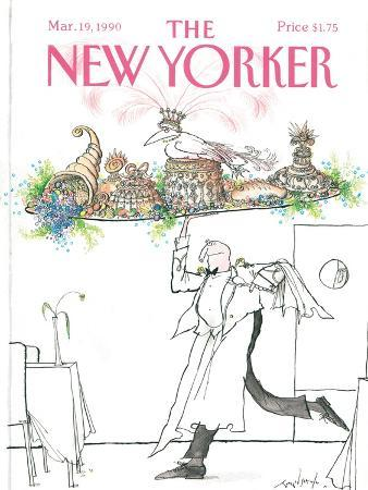 ronald-searle-the-new-yorker-cover-march-19-1990