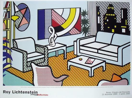 roy-lichtenstein-interior-with-skyline-collage-for-painting