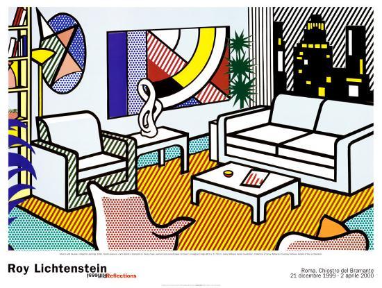 roy-lichtenstein-interior-with-skyline