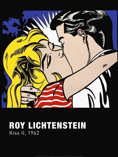 Kiss ii art print by roy lichtenstein at - Roy lichtenstein cuadros ...