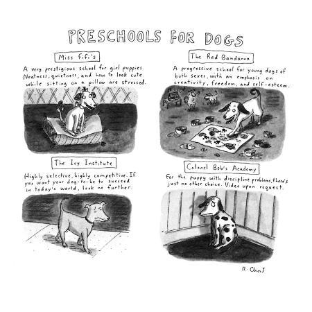 roz-chast-preschools-for-dogs-new-yorker-cartoon
