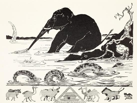 rudyard-kipling-the-elephant-s-child-having-his-nose-pulled-by-the-crocodile