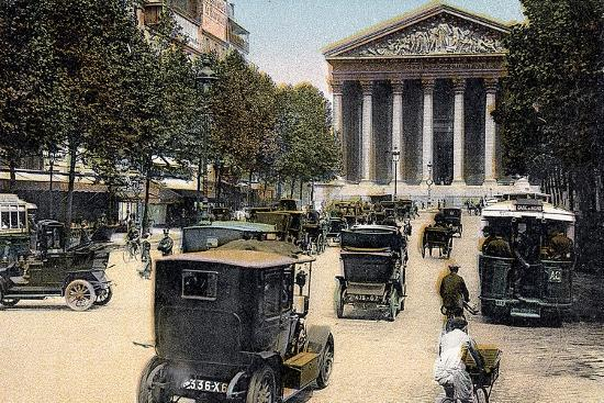 rue-royale-and-the-madeleine-paris-with-cars-and-a-motorbus-on-the-street-c1900