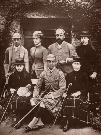 russell-sons-the-prince-and-princess-of-wales-in-shooting-dress-1900