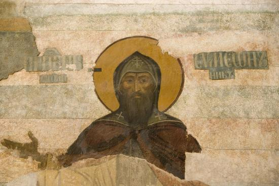 russia-yaroslavl-column-frescos-in-cathedral-at-monastery-of-transfiguration-of-savior