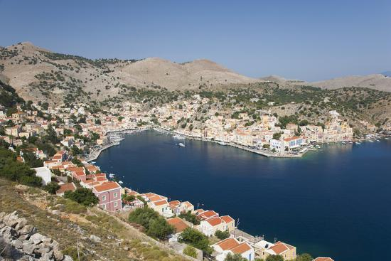 ruth-tomlinson-view-over-the-harbour-from-hillside-dodecanese-islands