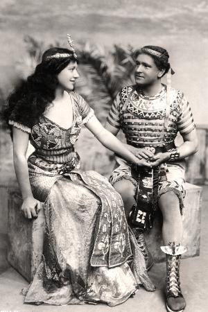 ruth-vicent-1877-195-and-roland-cunningham-in-a-scene-from-amasis-early-20th-century