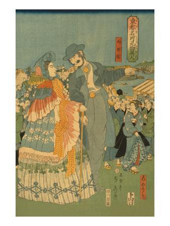 sadahide-utagawa-foreign-sightseers-in-famous-spots-of-edo-ryo-goku-bridge