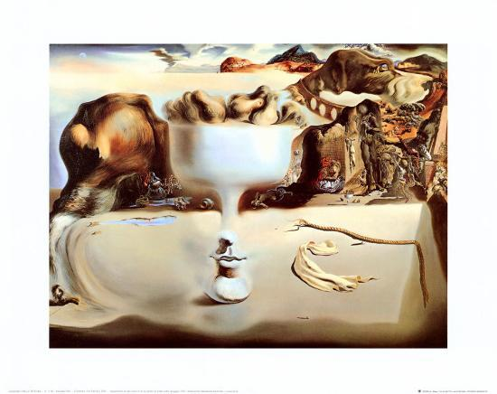 salvador-dali-apparition-of-a-face-and-fruit-dish-on-a-beach-c-1938