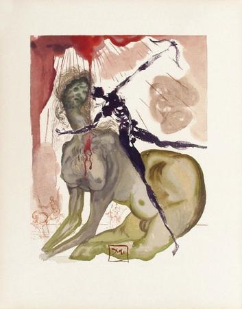 salvador-dali-divine-comedie-enfer-12-le-minotaure