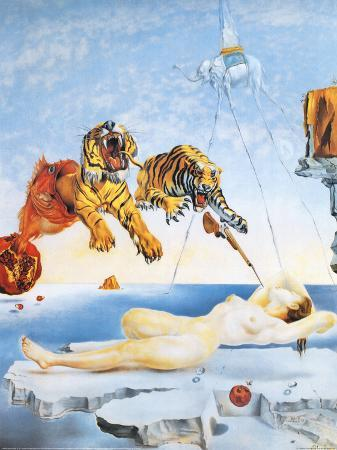 salvador-dali-dream-caused-by-the-flight-of-a-bee-around-a-pomegranate-c-1944