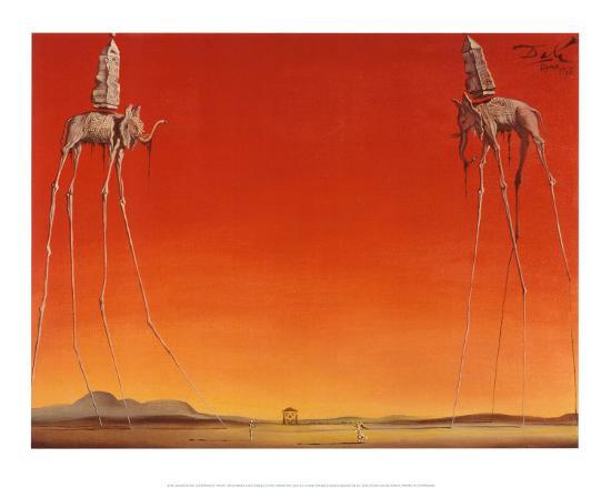 salvador-dali-the-elephants-c-1948