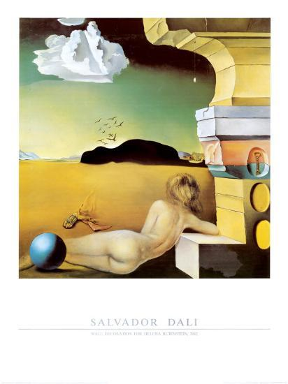 Wall Decoration for Helena Rubinstein, c.1942 Art Print by Salvador ...