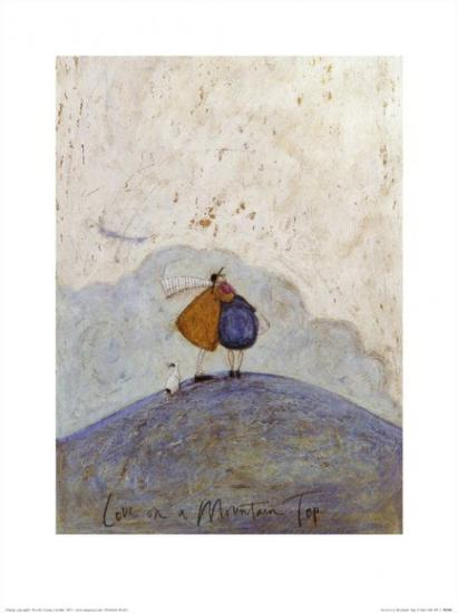 Love on a mountain top art print by sam toft at art love on a mountain top m4hsunfo