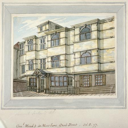 samuel-ireland-house-of-george-monck-duke-of-albermarle-in-grub-street-now-milton-street-city-of-london-1797