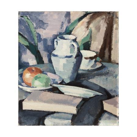 samuel-john-peploe-still-life-with-vase-and-books