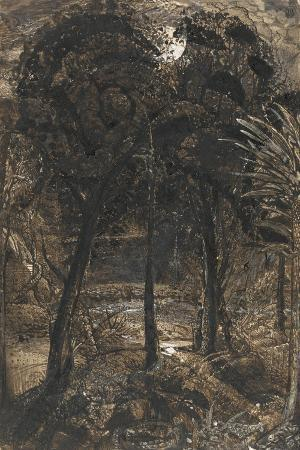 samuel-palmer-a-moonlit-scene-with-a-winding-river-1827