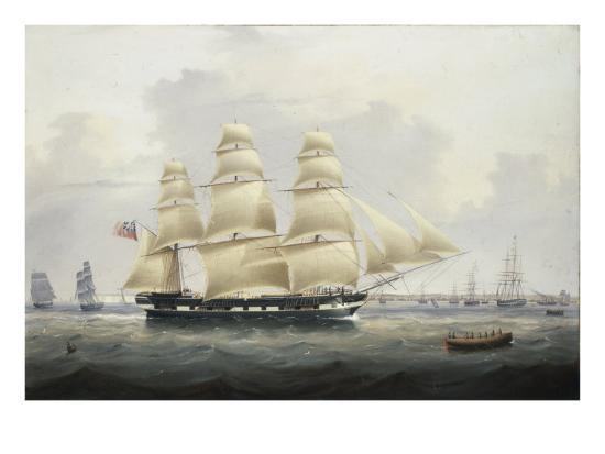 samuel-walters-a-british-merchantman-off-the-south-coast