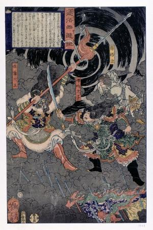 samurai-fighting-against-monkeys-19th-century