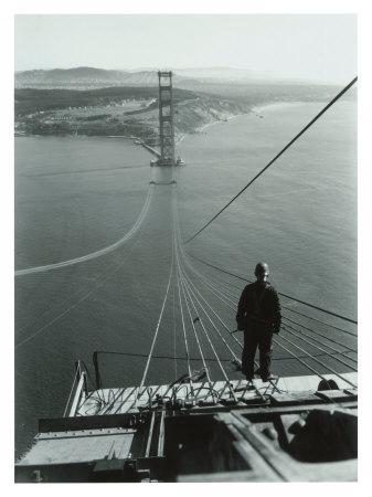San Francisco Golden Gate Bridge Construction Giclee
