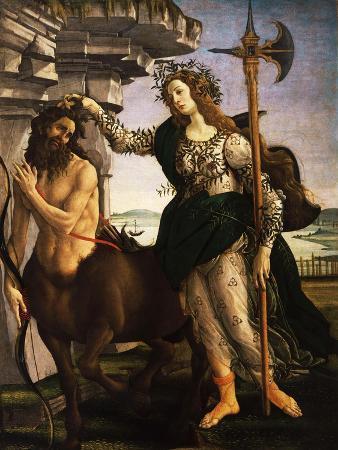 sandro-botticelli-pallas-or-minerva-and-the-centaur-c-1480