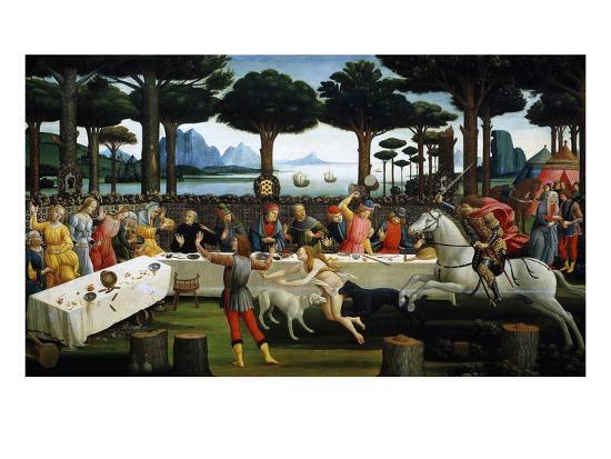 sandro-botticelli-the-story-of-nastagio-degli-onesti-third-episode-1483-from-boccaccio-s-decameron