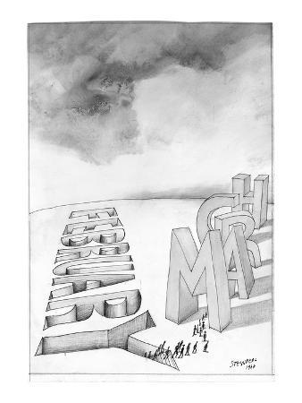 saul-steinberg-february-to-march-new-yorker-cartoon