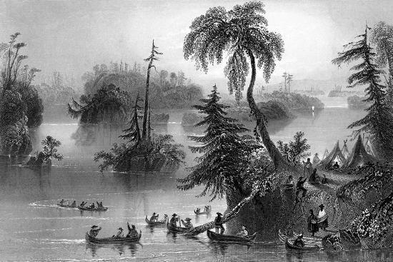 scene-among-the-thousand-isles-canada-1842