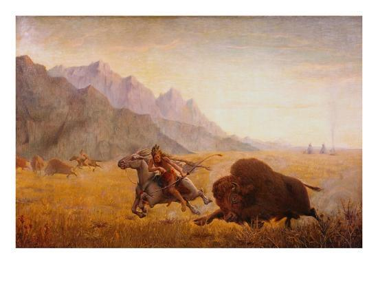 seth-eastman-the-buffalo-hunter