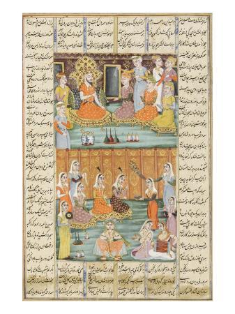shahnameh-de-ferdowsi-ou-le-livre-des-rois-mariage-des-trois-filles-de-sero-roi-du-yemen